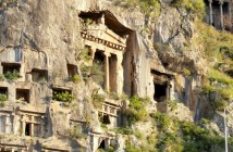 Fethiye Lycian Rock Tombs Turkey